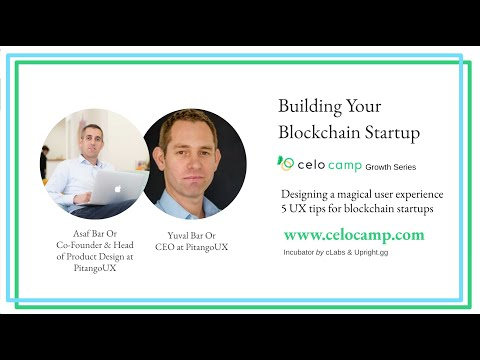 Building your blockchain startup - UX Design