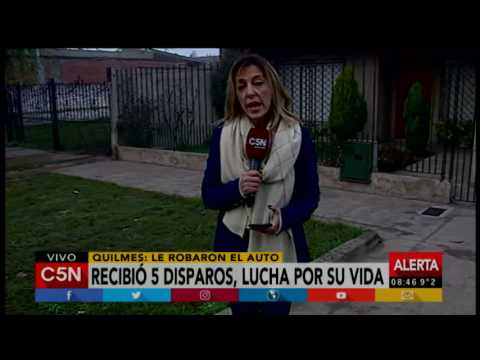 C5N - Policiales: Balearon a una mujer policía durante el robo de su auto en Quilmes