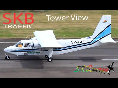 Trans Anguilla Airways BN-2 Islander in action @ St. Kitts, kite spotted on final approach !!!!