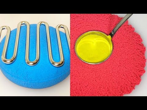 Very Satisfying Video Compilation 55 Kinetic Sand Cutting ASMR