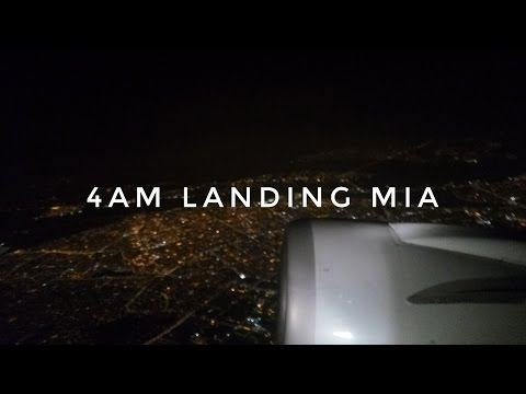 4am Landing MIA Interrupted By An Immigration Announcement (American Airlines 767-300)
