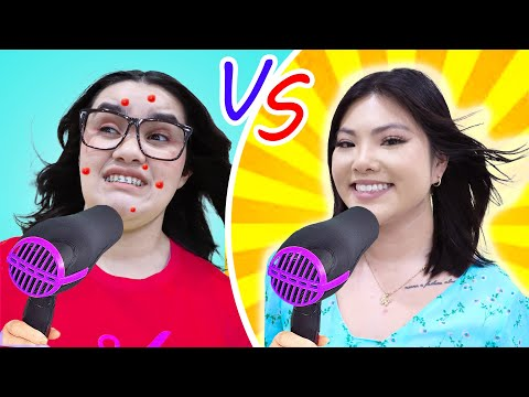 POPULAR VS NERD STUDENT | COOLEST HACKS TO BECOME POPULAR AT SCHOOL BY CRAFTY HACKS PLUS