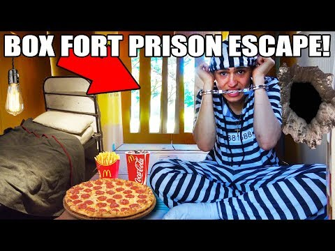 24 HOUR BOX FORT PRISON ESCAPE!! 📦🚔