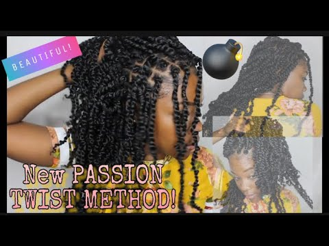 new-method-for-passion-twist!-pre-twisted-crochet-hair -tiana-passion-twist-hair-from-amazon -4chair