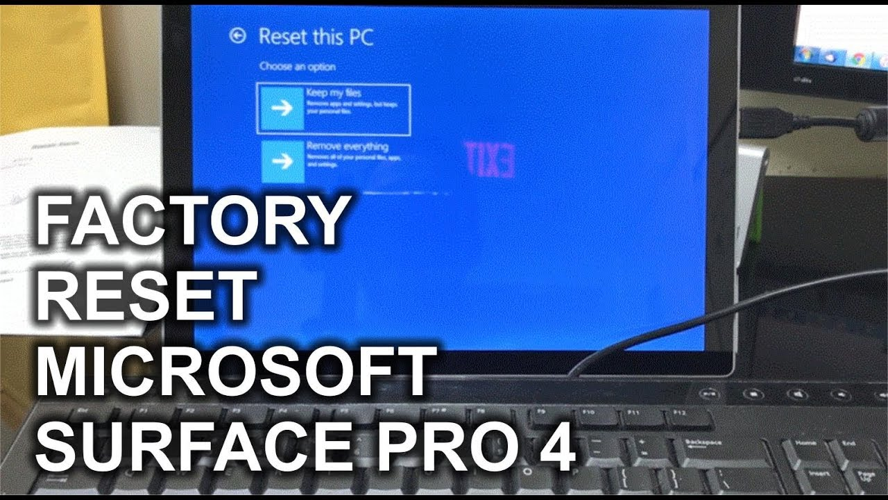 hard reset surface pro 4 bitlocker