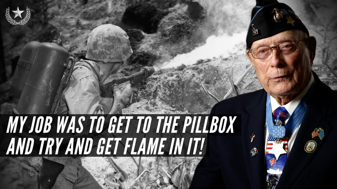 """Last Surviving WWII Medal of Honor Recipient Hershel """"Woody"""" Williams' heroic actions on Iwo Jima"""