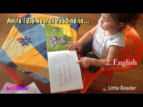 Toddler Anita Reading In 4 Lan...