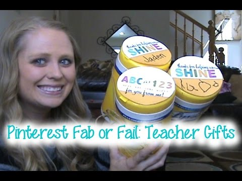 Pinterest Fab or Fail:  Teacher Gifts