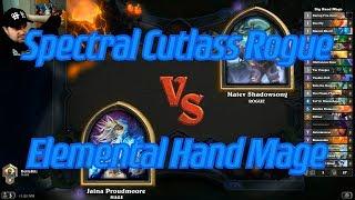 Elemental Hand Mage vs Spectral Cutlass Rogue - Hearthstone