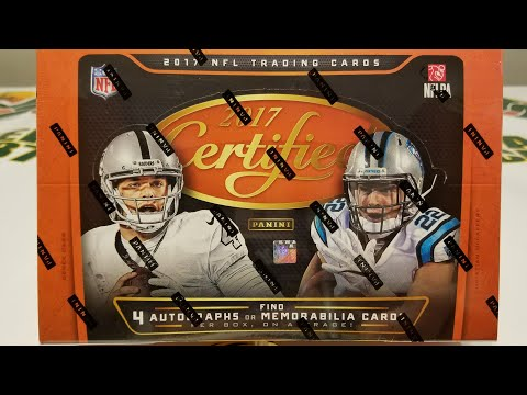 2017 Panini Certified Football Hobby Box. 4 Autos/Mem per Box