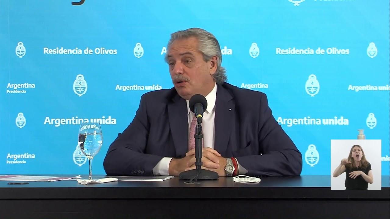 EN VIVO | Covid 19 - Conferencia de prensa del presidente Alberto Fernández desde Olivos