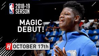 Mo Bamba Official NBA Debut Full Highlights Magic vs Heat 2018.10.17 - 13 Pts, 7 Reb, 3 Blks
