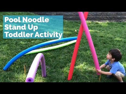 standing-pool-noodle-toddler-activity---fun,-summer,-outdoor-toddler-game