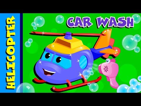 helicopter- -car-wash-videos- -cartoon-for-babies-by-kids-channel