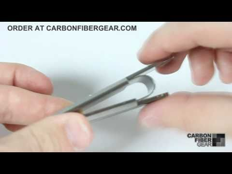 M-Clip carbon fiber money clip from CarbonFiberGear.com