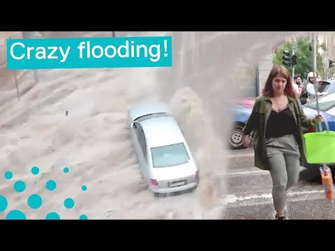 Crazy Flooding in Thessaloniki, Greece