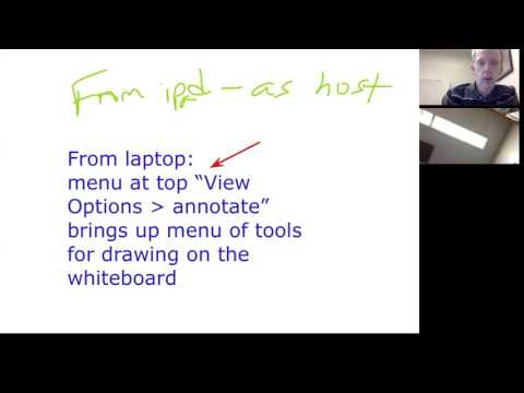 Using Zoom's shared whiteboard for digital office hours
