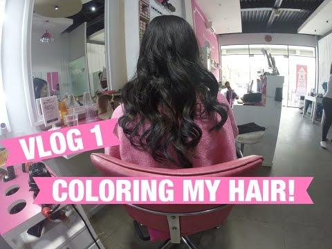 VLOG 1: Coloring My Hair! @ Blobar Hair Kemang