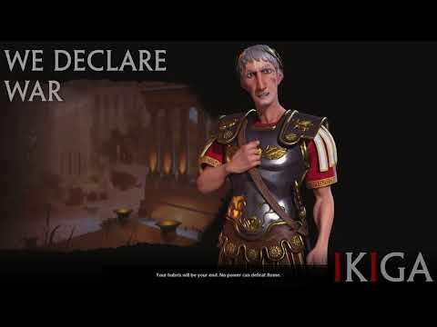 ROME - TRAJAN THE ROMAN EMPEROR ALL VOICED QUOTES & DENOUNCE - CIVILIZATION VI / CIV VI