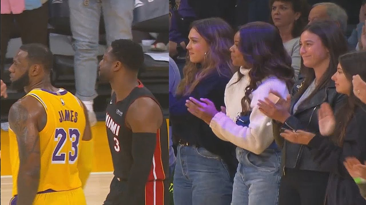 1e9a811b156c Dwyane Wade Gets Standing Ovation From Lakers Crowd In Final Game vs LeBron  James! Lakers vs Heat