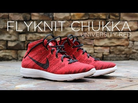 red flyknit