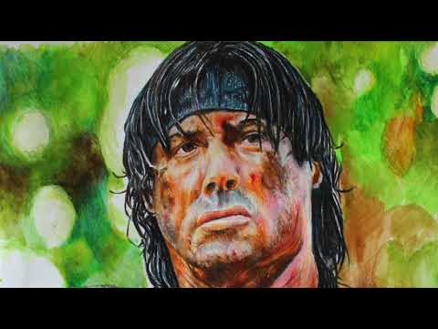 John RAMBO - Sylvester Stallone Colored Pencil | Gerçekçi Çizim