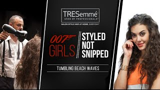 Tumbling Boho Beach Waves styled by TRESemme: Hairstyle for long, straight hair