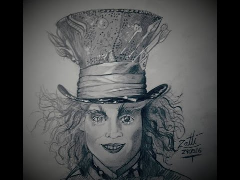 Como Desenhar O Chapeleiro Johnny Depp Youtube