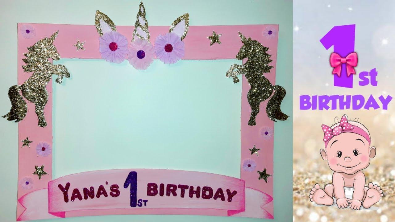 Diy Unicorn Photo Booth Frame First Birthday Photo Booth Frame Ideas Youtube