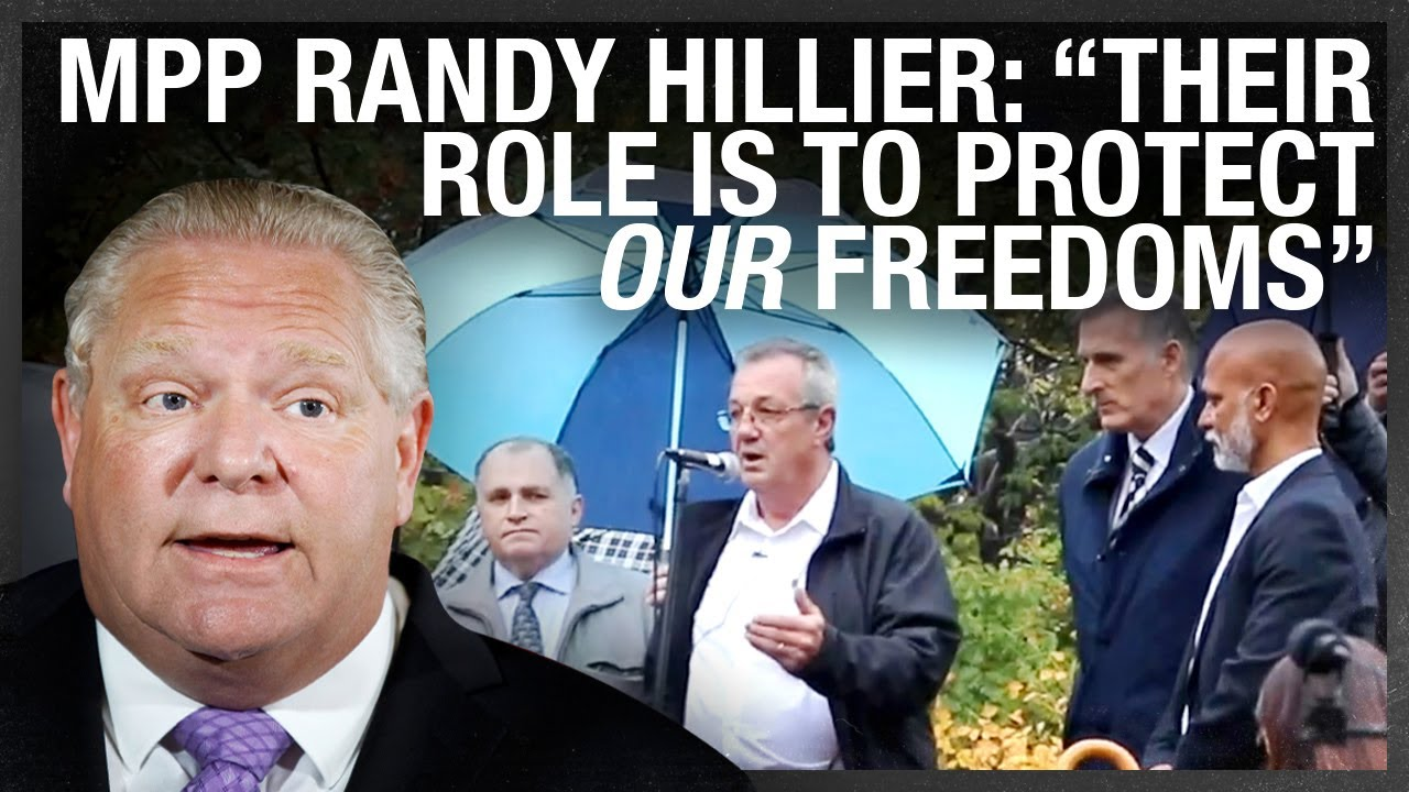 MPP Randy Hillier DARES Doug Ford to arrest him at anti-lockdown protest