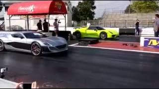 DRAG RACE: Rimac Concept One vs. Porsche 918 Spyder