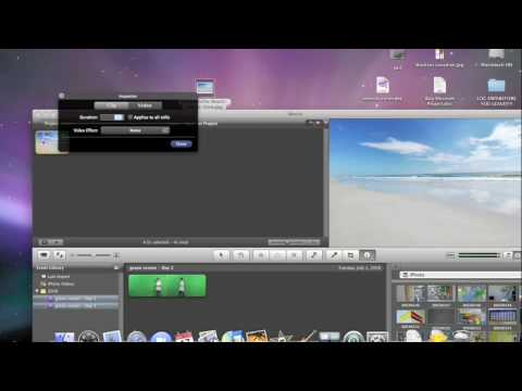 how to change background video on imovie