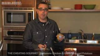 The Cheating Gourmet: Rotisserie Chicken And Garlic Whipped Potatoes