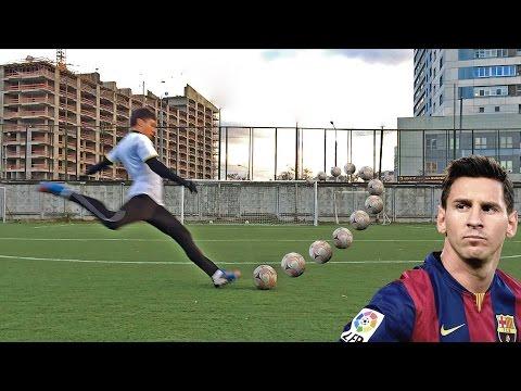 Как закрутить мяч в футболе? Напишите, пожалуйста