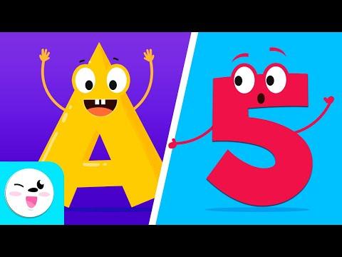 Los NÚMEROS del 1 al 10 y el ABECEDARIO de la A a la Z | Vídeo educativo para aprender las letras