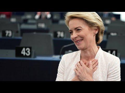 Von der Leyen zur ersten weiblichen EU-Kommissionspräsidentin gewählt