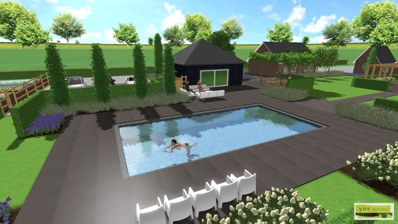 Landelijke tuin met zwembad ontwerp d vos tuinvisie youtube