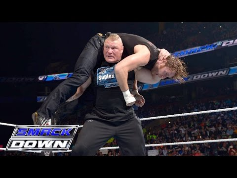 Brock Lesnar, Dean Ambrose and The Wyatt Family all go to war: SmackDown, March 24, 2016 thumbnail