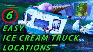 6 Easy Fortnite Ice Cream Truck Emplacements (fr) Semaine 4 Battle Pass Challenge