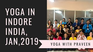 Yoga in Indore, India 🇮🇳 | All Level| Master Praveen