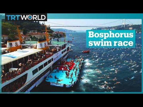 Annual Bosphorus swim race