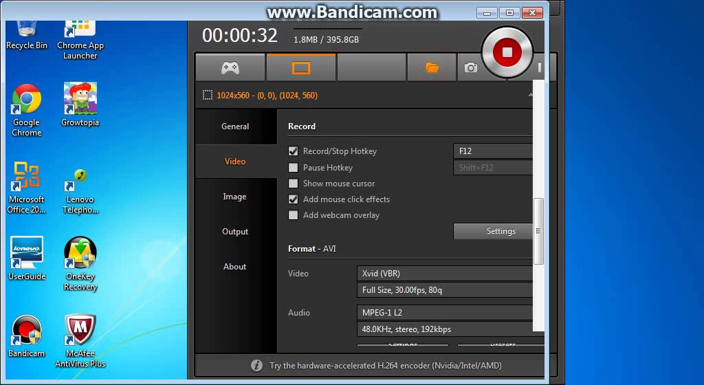how to make bandicam record your voice