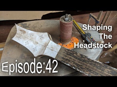 Guitar Shed Diary 42: Shaping The Headstock With A Triton Style Spindle Sander