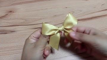 싱글보우 리본 (Single Bow Ribbon)-리본 예쁘게 묶는 법