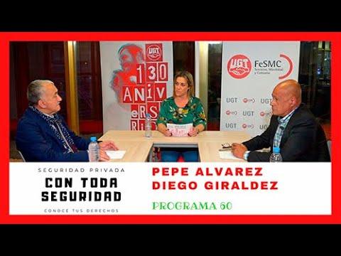 """Entrevista a Pepe Álvarez en el programa """"Con toda seguridad"""" de FeSMC-UGT"""