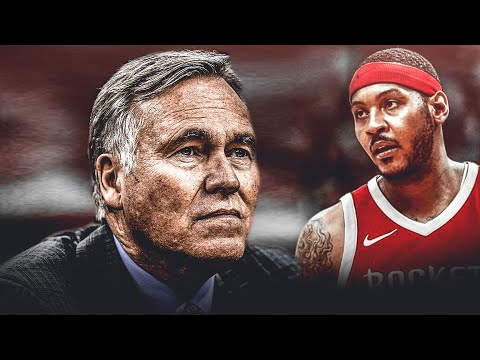 """Mike D'Antoni States """"Carmelo MAY COME OFF THE BENCH...""""!!!"""