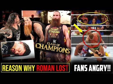 REAL REASON Why Roman Reigns LOST? WWE Fans Angry & FURIOUS*- WWE Clash of Champions 2019 Highlights