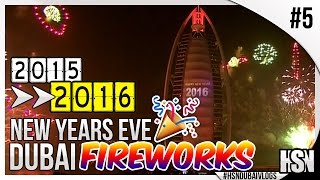 Dubai Vlogs | Vlog #5 |  New Year's Eve (NYE) in Dubai -  Burj Al Arab Fireworks 2016!