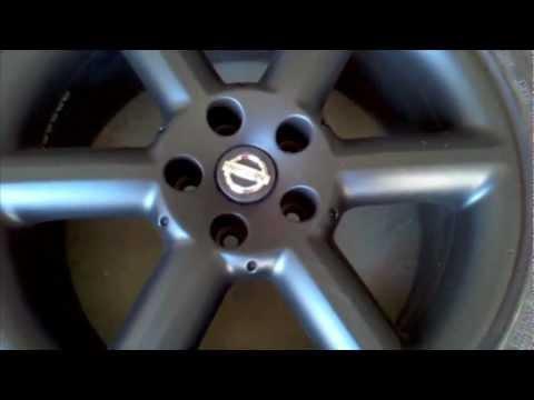 Plasti dip 350z rims - YouTube