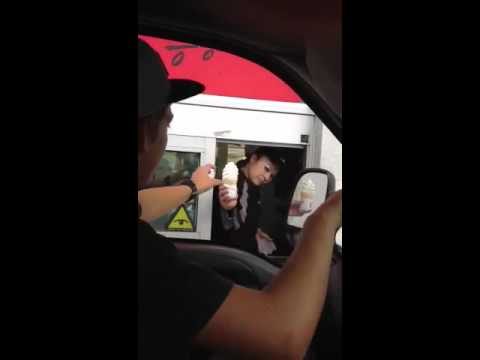 Mcdonalds Manager Throws Ice Cream At Customer Youtube
